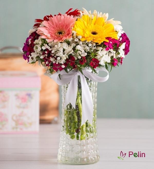 Gerbera ve Kır Çiçekleri